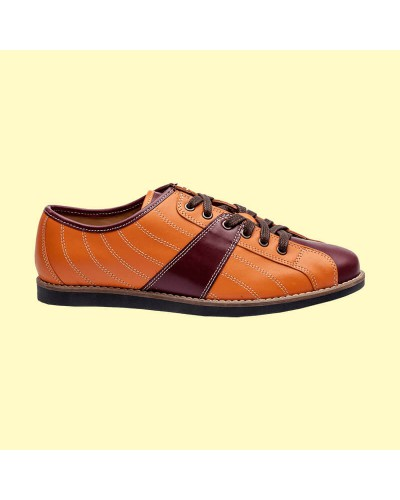 the Bowler - orange/bordeaux