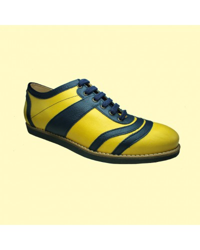 old Bowler - yellow/blue