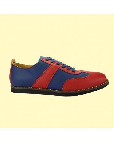 the golfer - blue/red