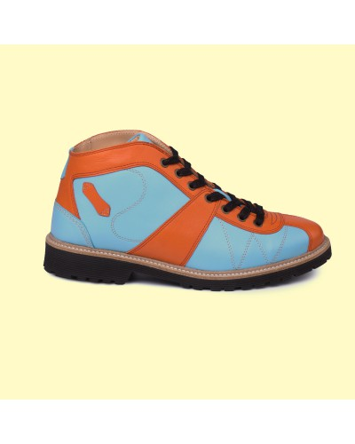 new Kicker - hellblau / orange