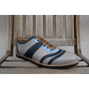 new Bowler - lightblue/black/white/brown