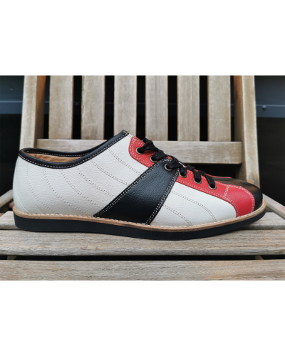 new Bowler - White/Red/Black