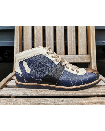 the Kicker - Beige/Darkblue/Brown