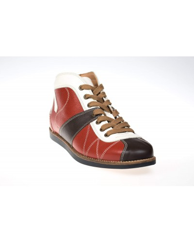 the Kicker - red/white/brown