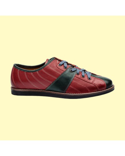 the Bowler - red/petrol